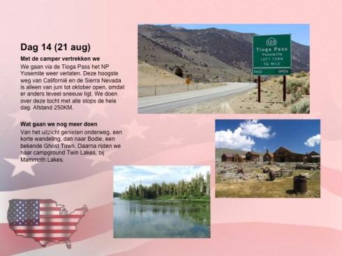 Dag 14: Mammoth Lakes → Pahrump